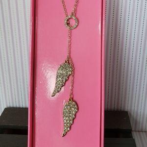 VICTORIA SECRET NIB angel wing necklace